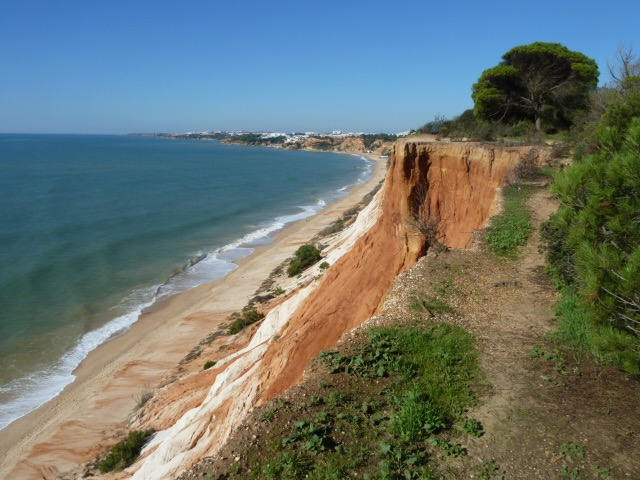East of Albufeira. Falesia. Stunning, long stretch of beach.
