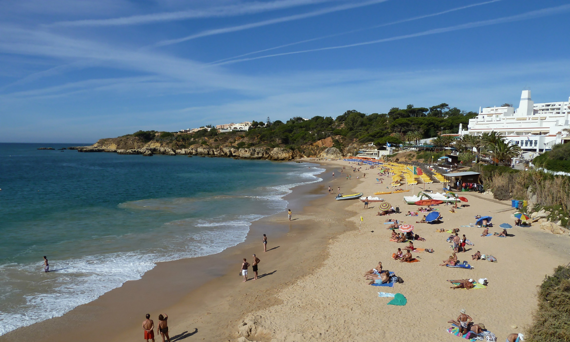 Praia Oura: Another enjoyable beach with many seafront restaurants. Only 4.2 km.
