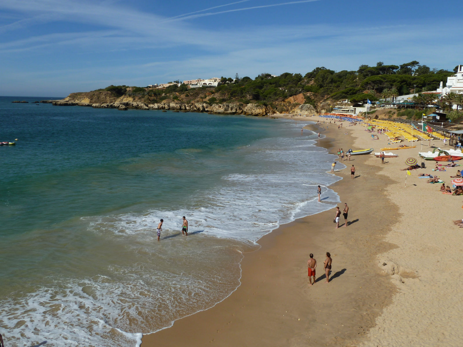 The very pretty, colourful & lively Praia Oura beach is worthy of a visit.