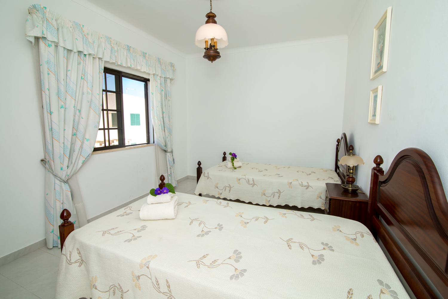 2nd floor large twin bedroom with terrace commanding  great views resort & ocean