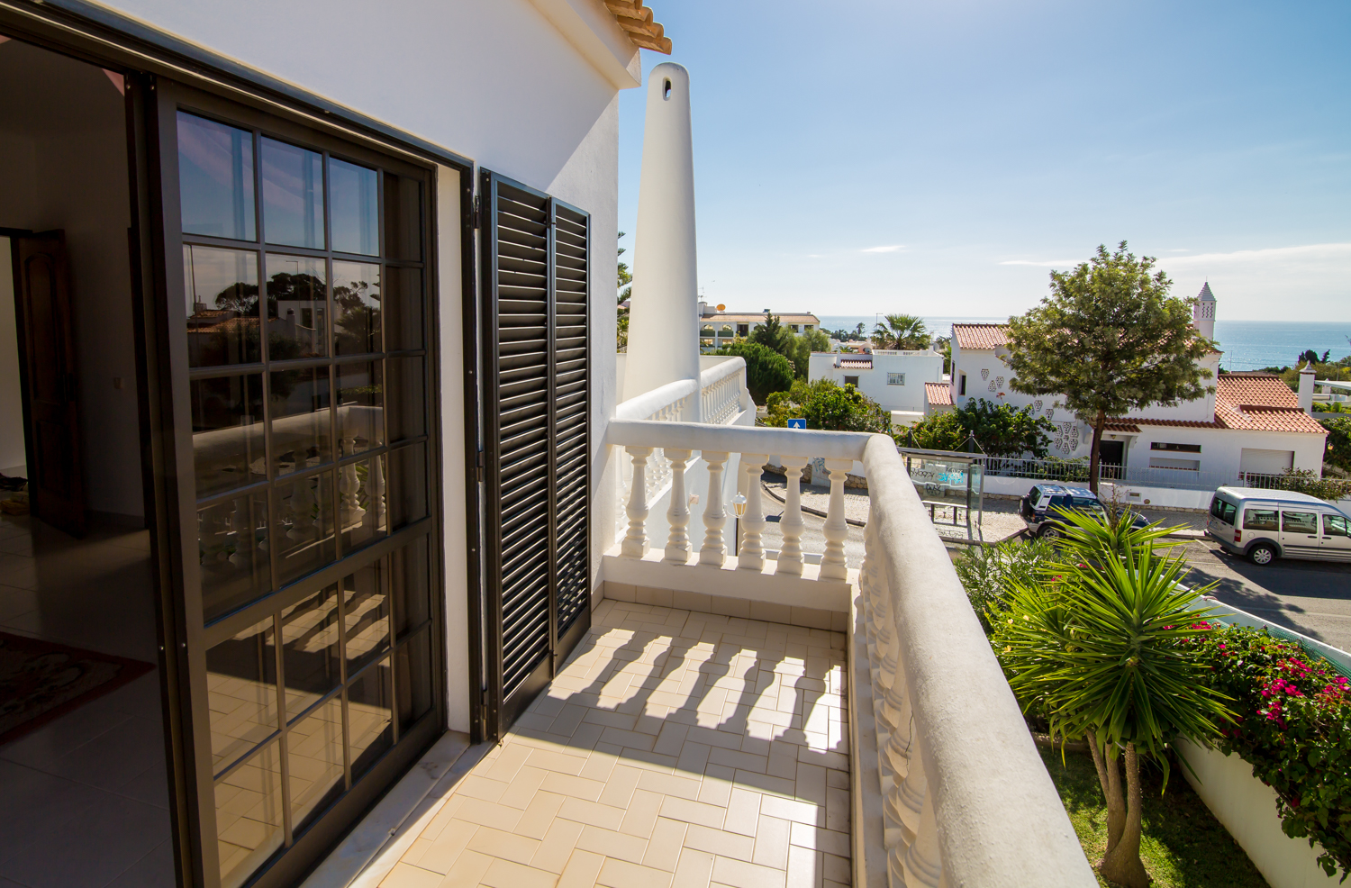 2nd floor Bedroom with private terrace, commanding superb resort and sea views.