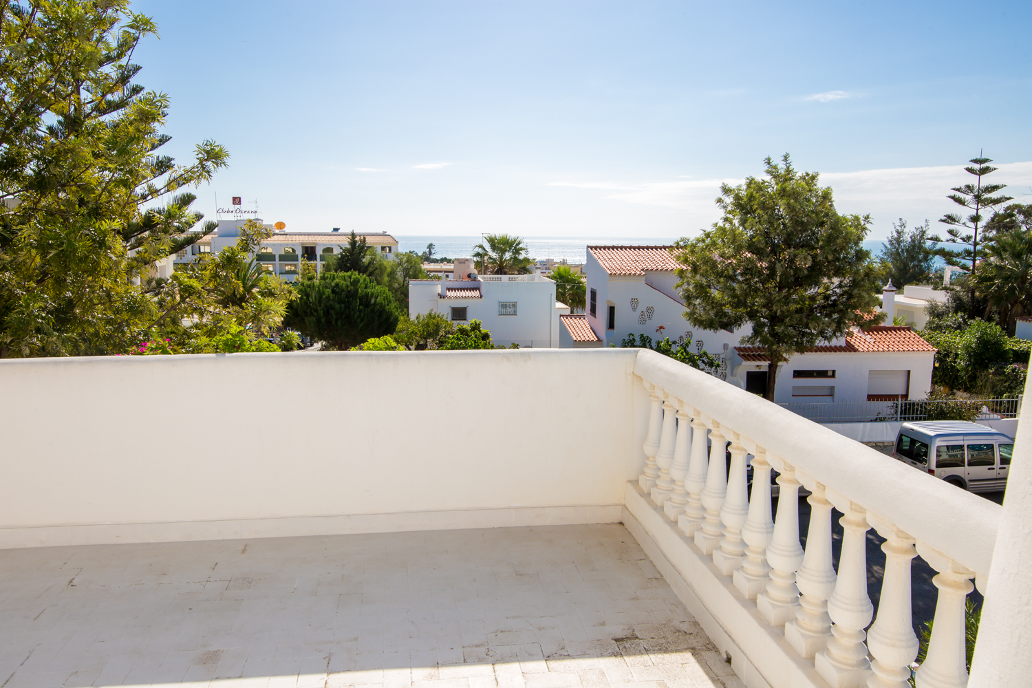 This 2nd floor terrace is large, commanding great all round views.