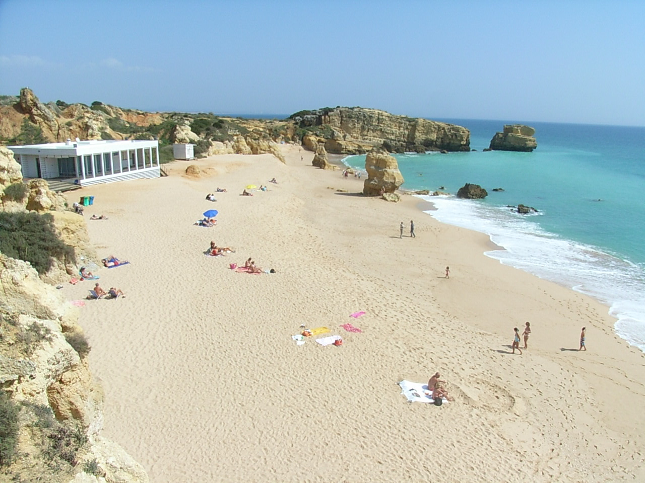 West of Albufeira, there are many Blue Flag Beaches like this one in Sao Rafael.