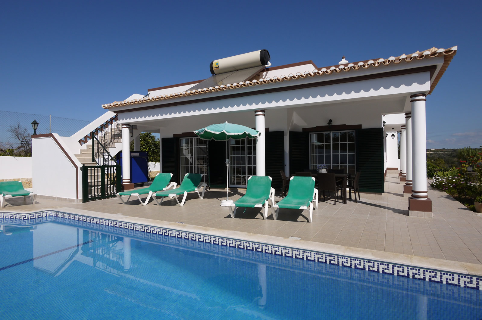 Beautiful, spacious 4 bedroom villa with a very sunny private pool.