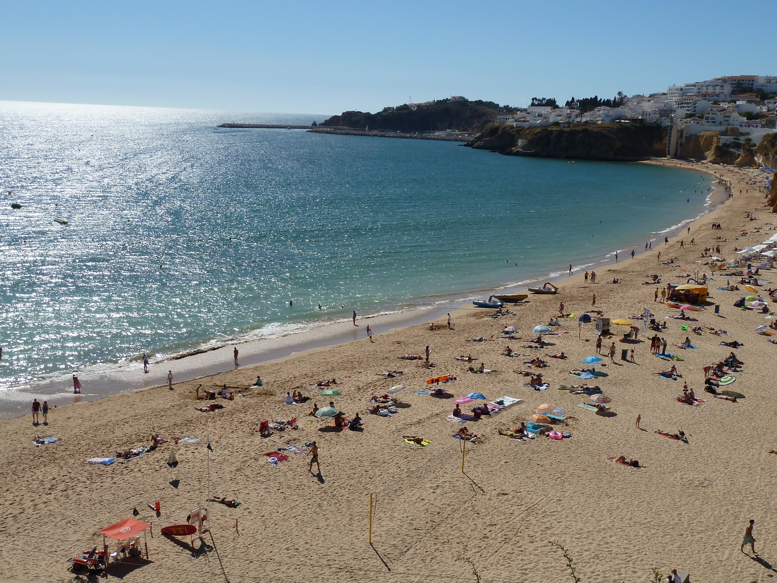Lively & Colourful Albufeira beach & town,  with many water sports, under 7 kms
