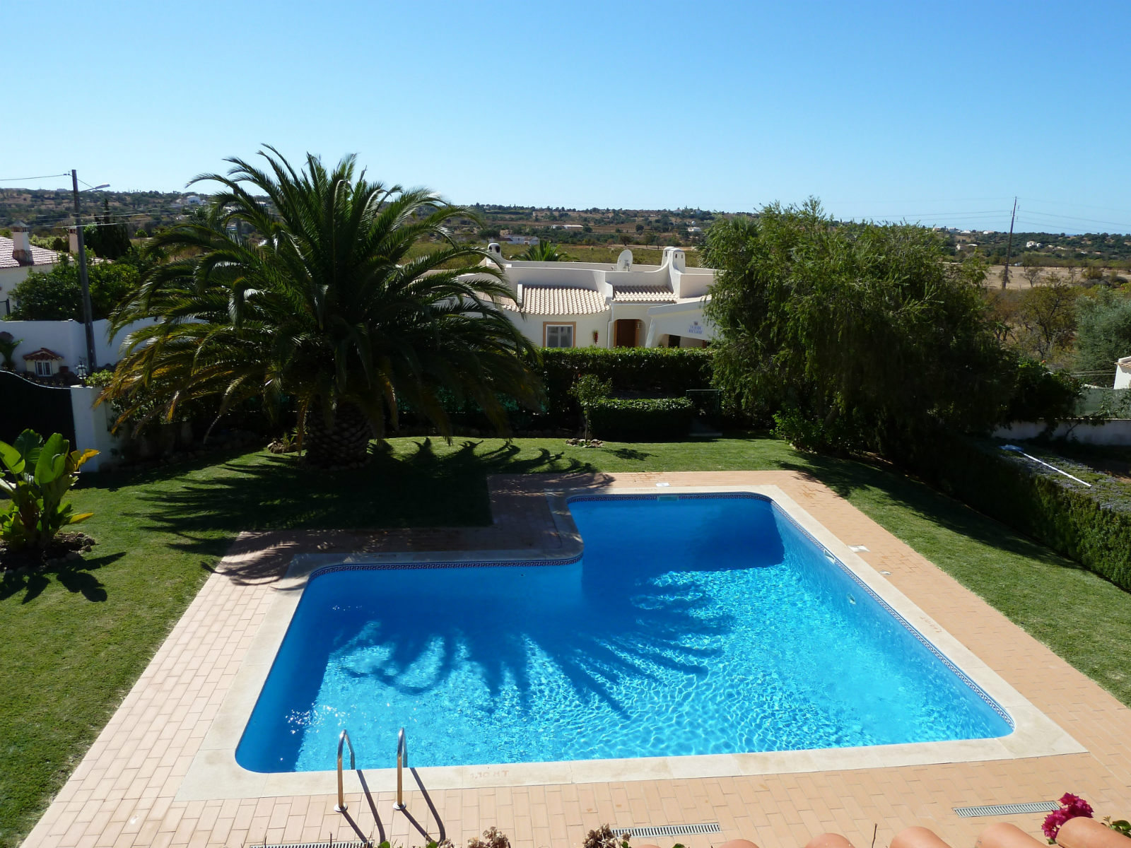 Villa's superb location with country & sea views