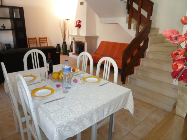 Attractive, lounge/dinner with a great feel of space, with staircase to bedrooms