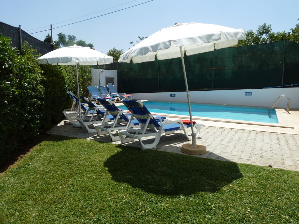 Enjoy the relaxing and private area by the sunny pool.