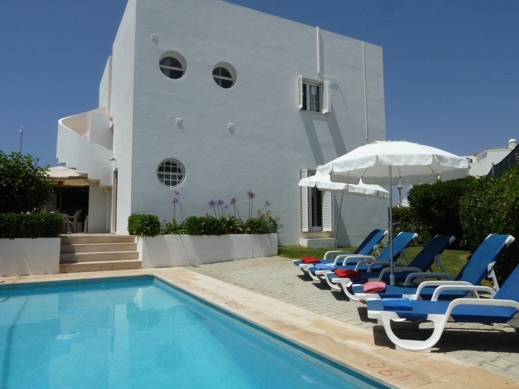 The very popular 5* location, Villa Jose, Falesia, Albufeira. 4 bedroom A/C Villa.
