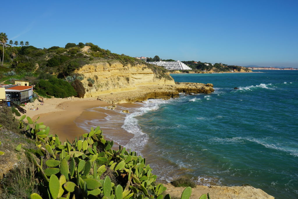 East of Albufeira Old Town. Praia dos Aveiros 'Blue Flag Beach' is located near Praia da Oura.