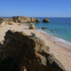 West of Albufeira Marina. Gale's coastline Praia de Sao Rafael 'Blue Flag Beach'.