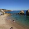 West of Albufeira Marina. Gale's coastline Praia dos Arrives Blue Flag Beach'.
