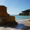East of Albufeira Old Town. The 7 beaches are equally beautiful 'Blue Flag Beaches'.