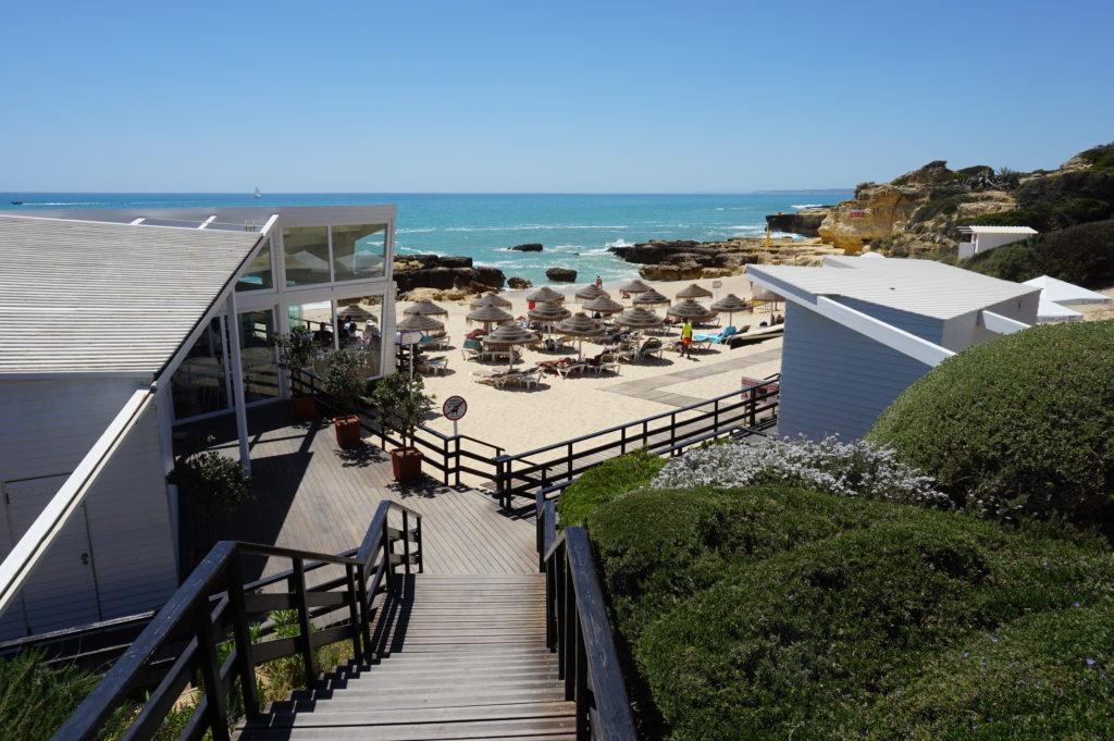 West of Albufeira Marina. Gale's coastline there are many stunning beaches to Villa Ana. Praia do Evaristo 'Blue Flag Beach'.