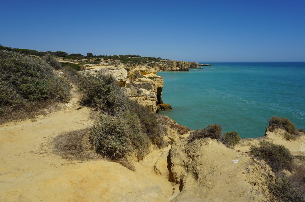 There are beautiful walking paths on Albufeira's. Gales stunningly beautiful beaches.