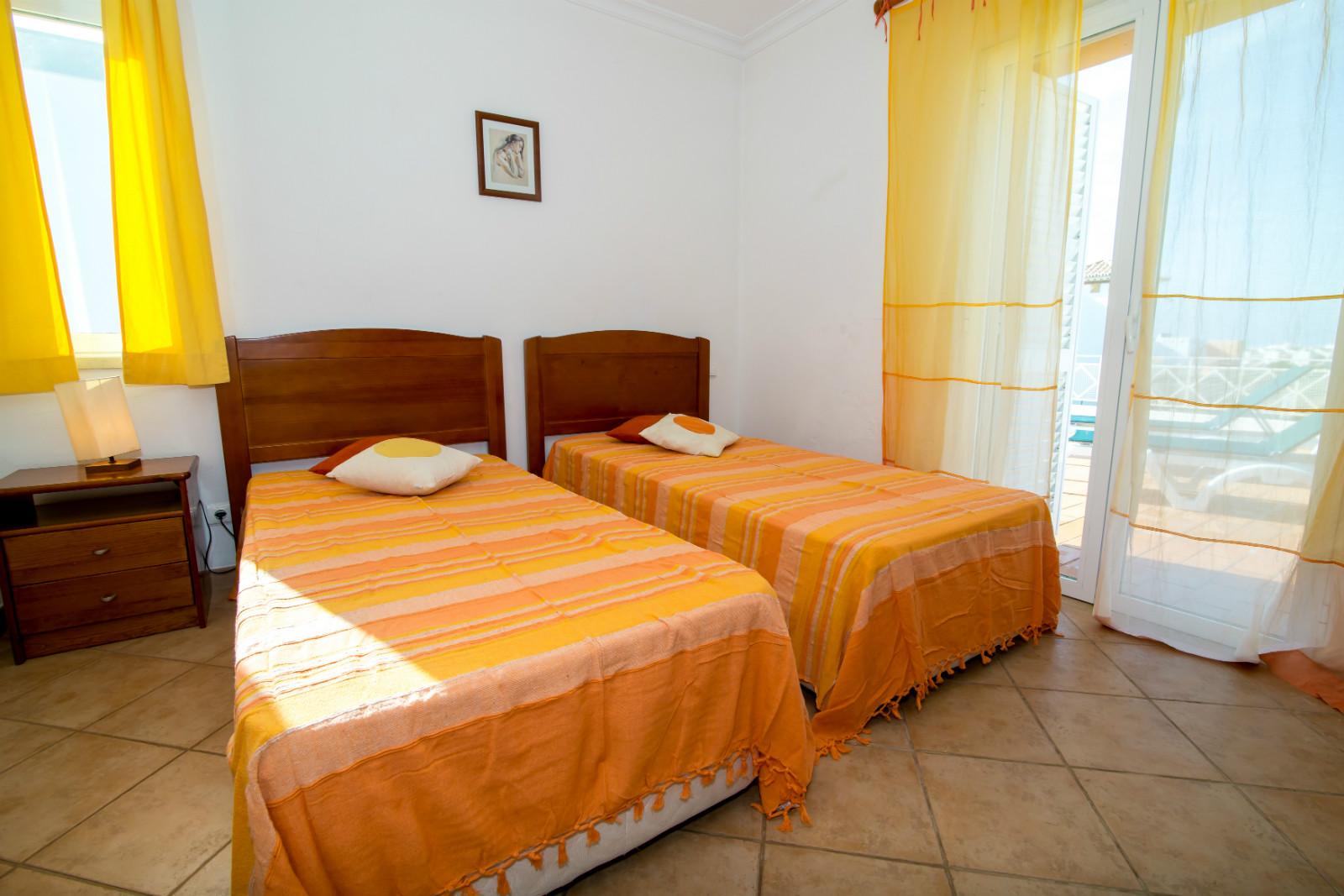 1st floor bedroom overlooking terrace, double glazing doors & windows & shutters