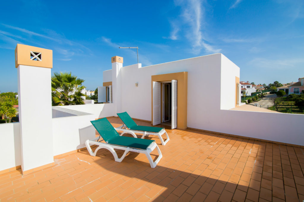 Amazing, large, very private, 1st floor sun terrace overlooking pool & neighbouring villas.