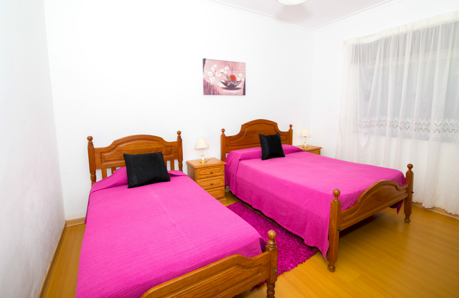 All bedrooms have air conditioning. Twin bedroom with double window