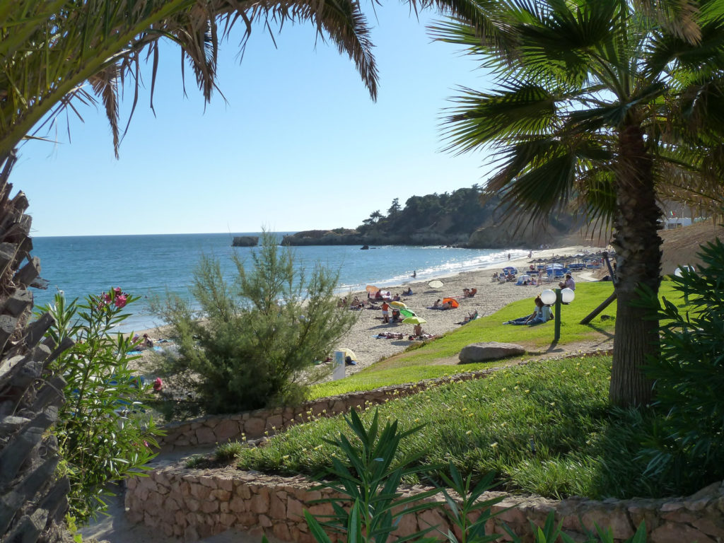 Sta. Eulalia! Our local, picture postcard beach with restaurant, cafe/bar 1.8kl.