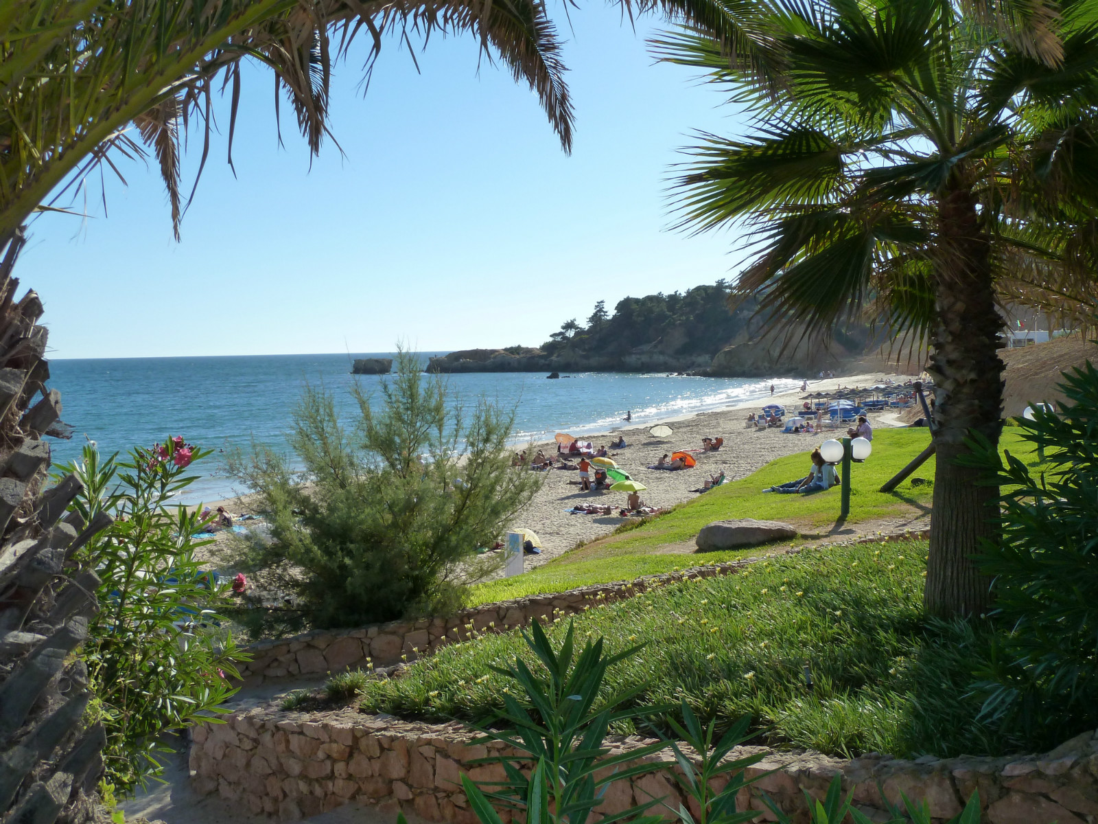 Santa Eulalia Beach. Going west. Located after Club Med's Maria Luisa Beach 4 km