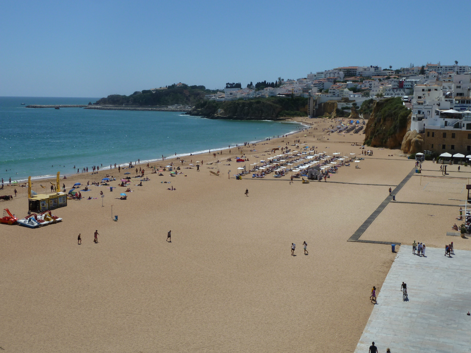 Your near, local picture postcard & very popular Albufeira old town beach 1 klm.