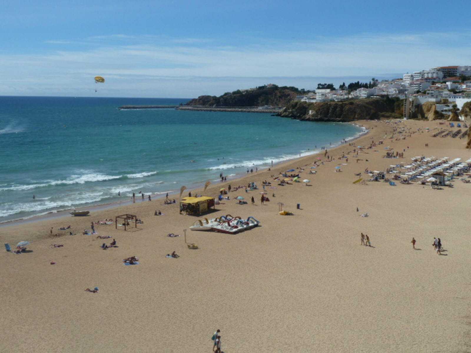 The lively & colourful Albufeira fisherman's beach, is very short drive away.