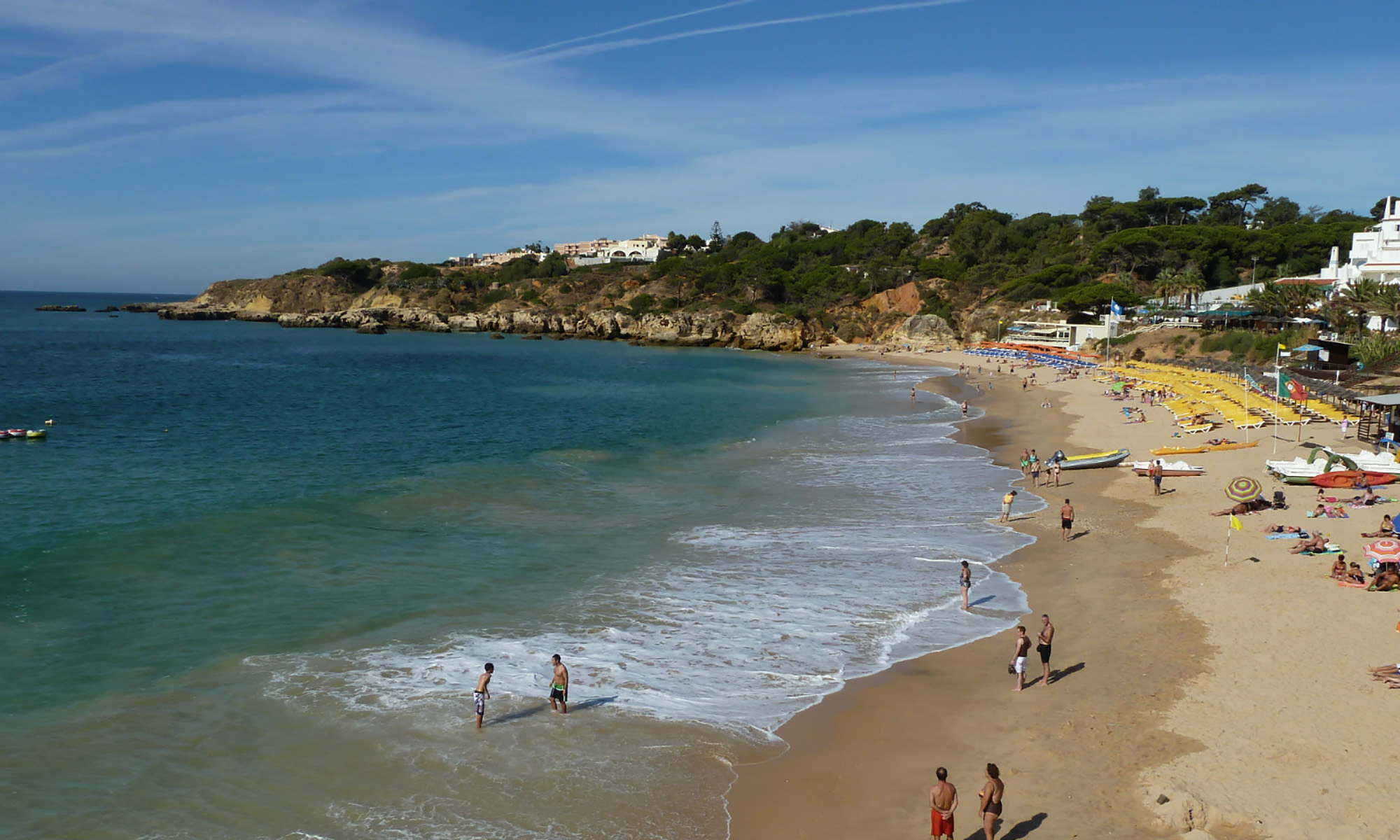 The colourful & lively Praia da Oura beach is also a must visit Blue Flag Beach.