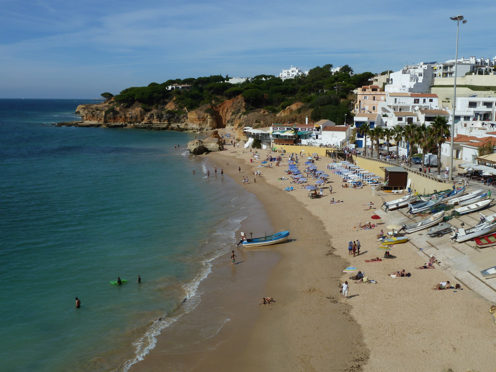 Albufeira - Olhos de Agua, a beautiful Blue Flag fisherman's beach and town.