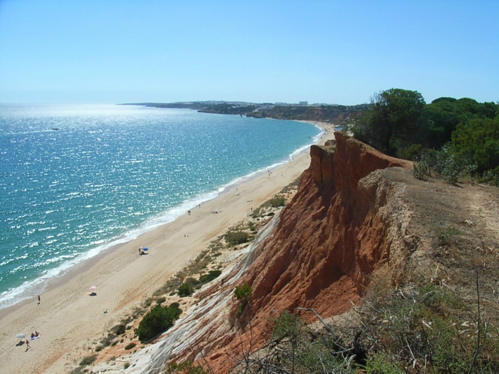 The stunning, amazingly beautiful, very long stretch of golden sands of Falesia. Voted 3rd Best Beach in Europe'.