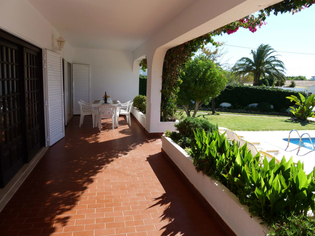 Spacious terace, with great pool & garden views