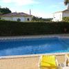 Villa Estrelicia relaxing pool area with sea views.
