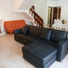 Comfortable leather sofas in the lovely open plan lounge.