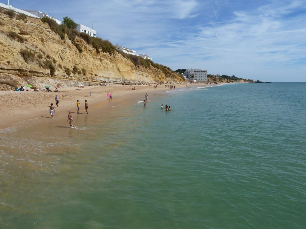 Albufeira Old town, there is also, this long stretch of Areias Sao Joao beautiful beach.