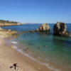 East of Albufeira Marina. Gale Coastline Praia de Arrifes Blue Flag Beach. Our favourite hideaway beach.