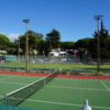 Quinta da Balaia's all weather tennis courts, located near Mini Market & playground.