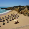 East of Albufeira Marina. Gale Coastline. The very pretty Castelo Beach. However it has many steps to beach below.