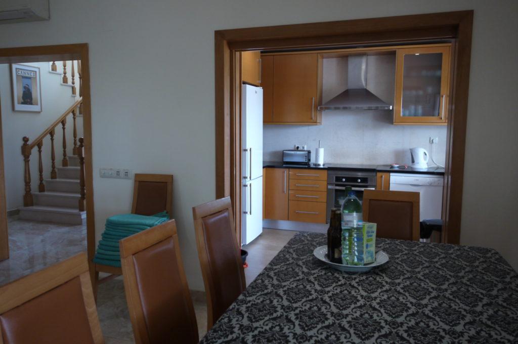 Lounge/dinner overlooking the open plan kitchen.