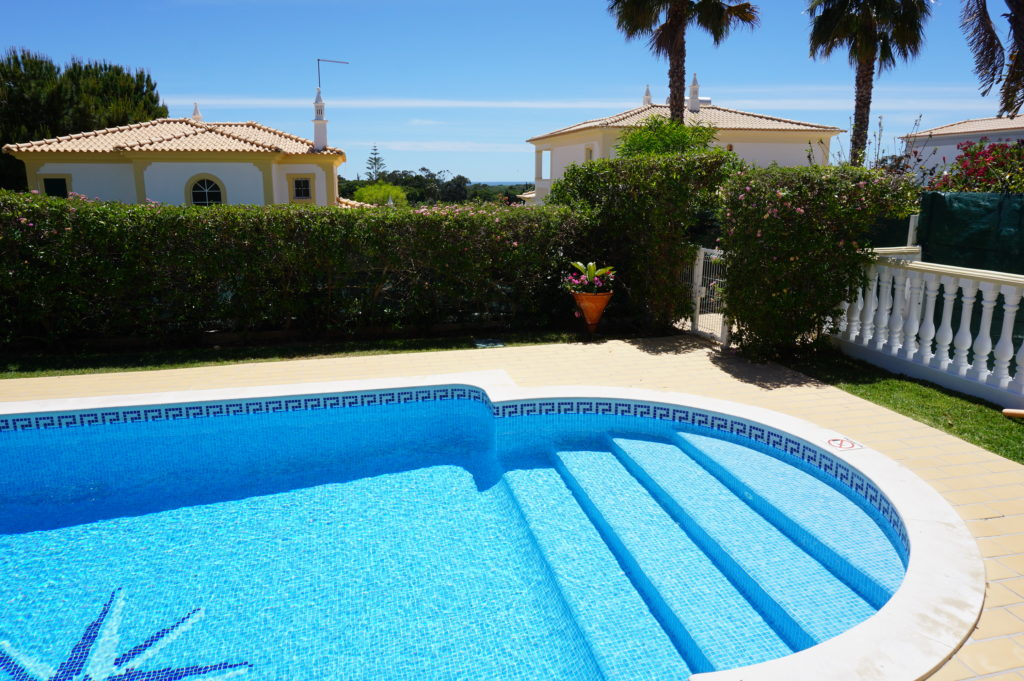 Very Private Villa with sea views, lovely flowers and shrubs.