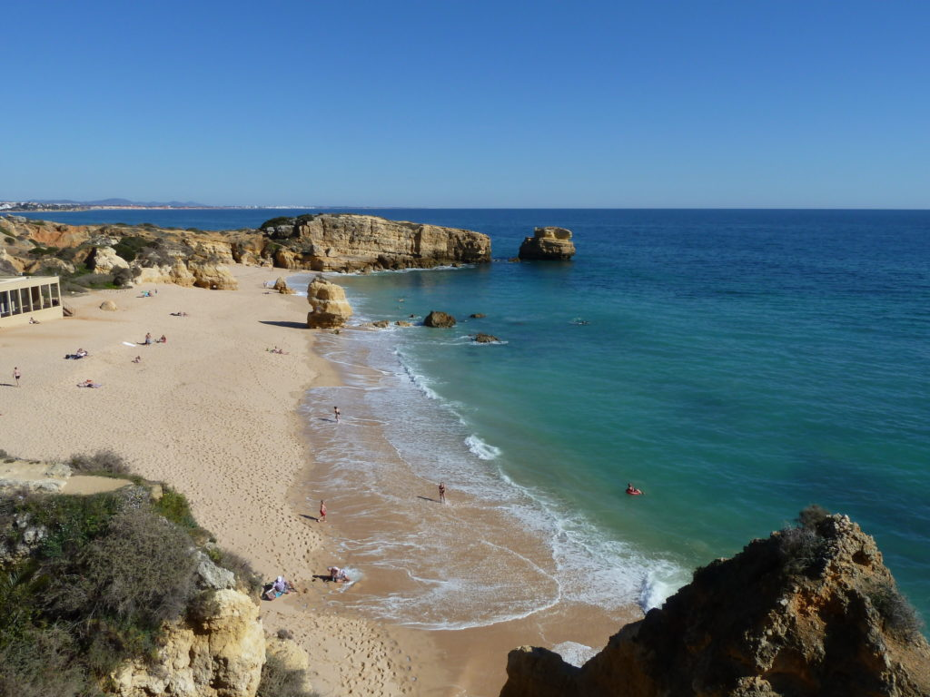 Sao Rafael Beach. West of Albufeira Marina. Gale coastline is also very beautiful.
