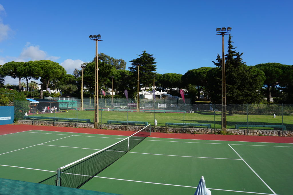 Quinta da Balaia's all weather tennis courts with beautiful surroundings. Located near the Mini Market.