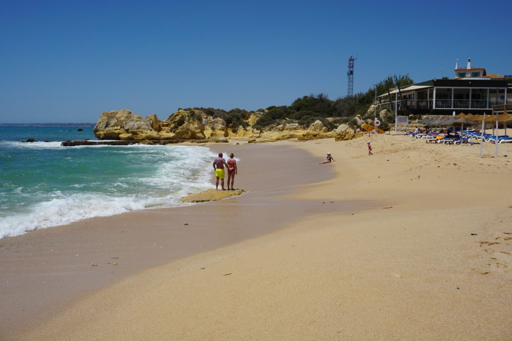 West of Albufeira Marina. Gale coastline. Manuel Lourenco 'Blue Flag Beach'