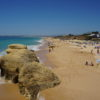 West of Albufeira Marina. The beautiful long stretch of Gale Beach.
