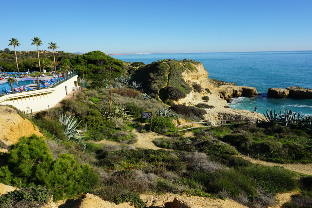 Enjoy the beautiful Albufeira coastline on foot, with lovely walkways from your local Santa Eulalia Beach.