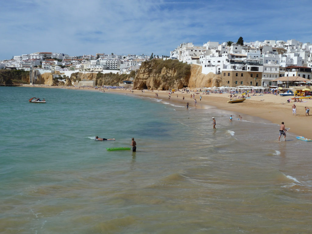 Albufeira's Lively Old Town Centre. Paneco & Fisherman's beach.